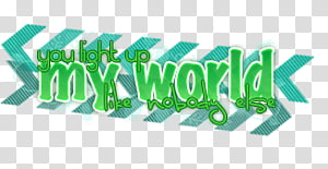 World light up clipart banner freeuse stock O Text D, you light up my world text transparent background ... banner freeuse stock
