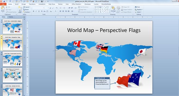 World map clipart for powerpoint jpg transparent stock Make Awesome Global Presentations with Global PowerPoint Template ... jpg transparent stock