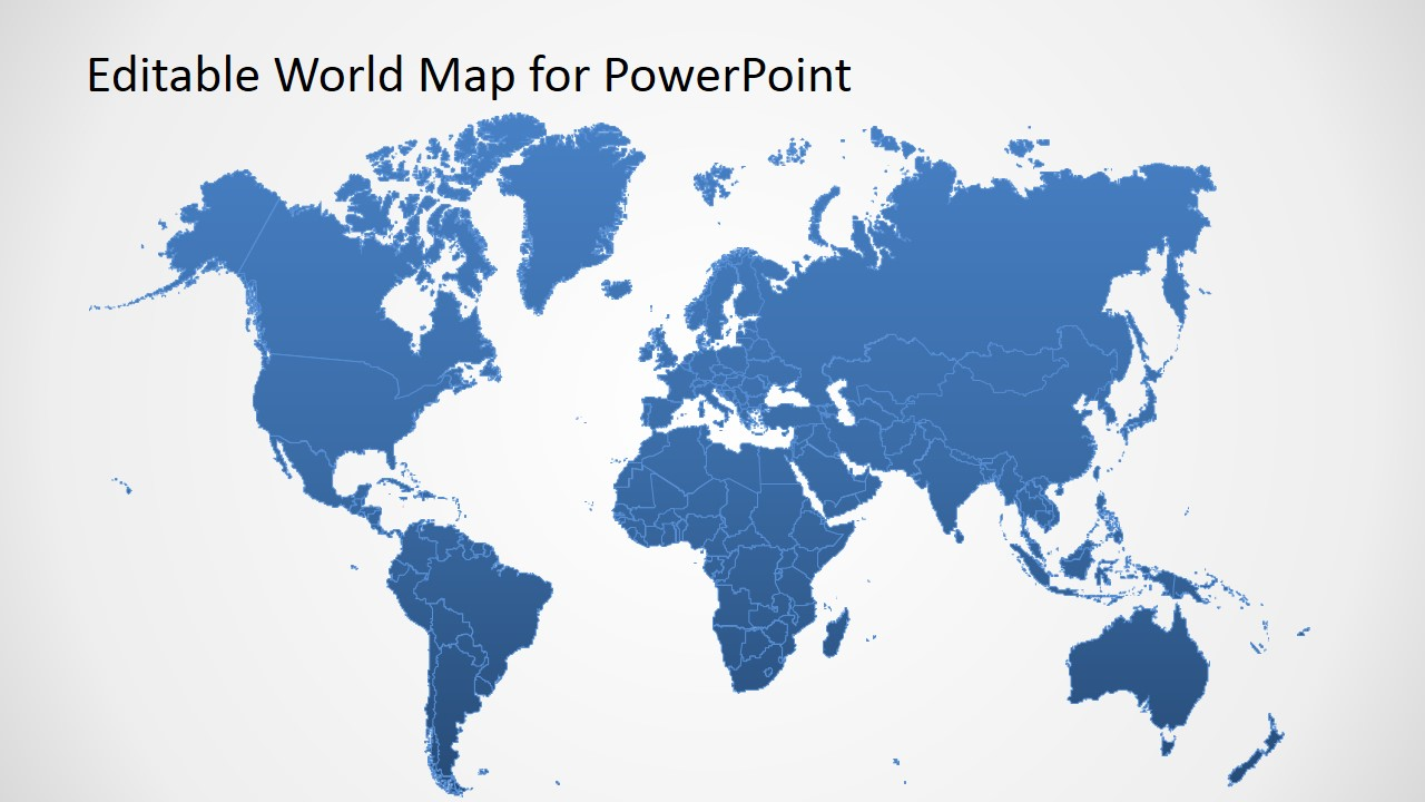 World map clipart powerpoint free jpg free library Editable Worldmap for PowerPoint - SlideModel jpg free library