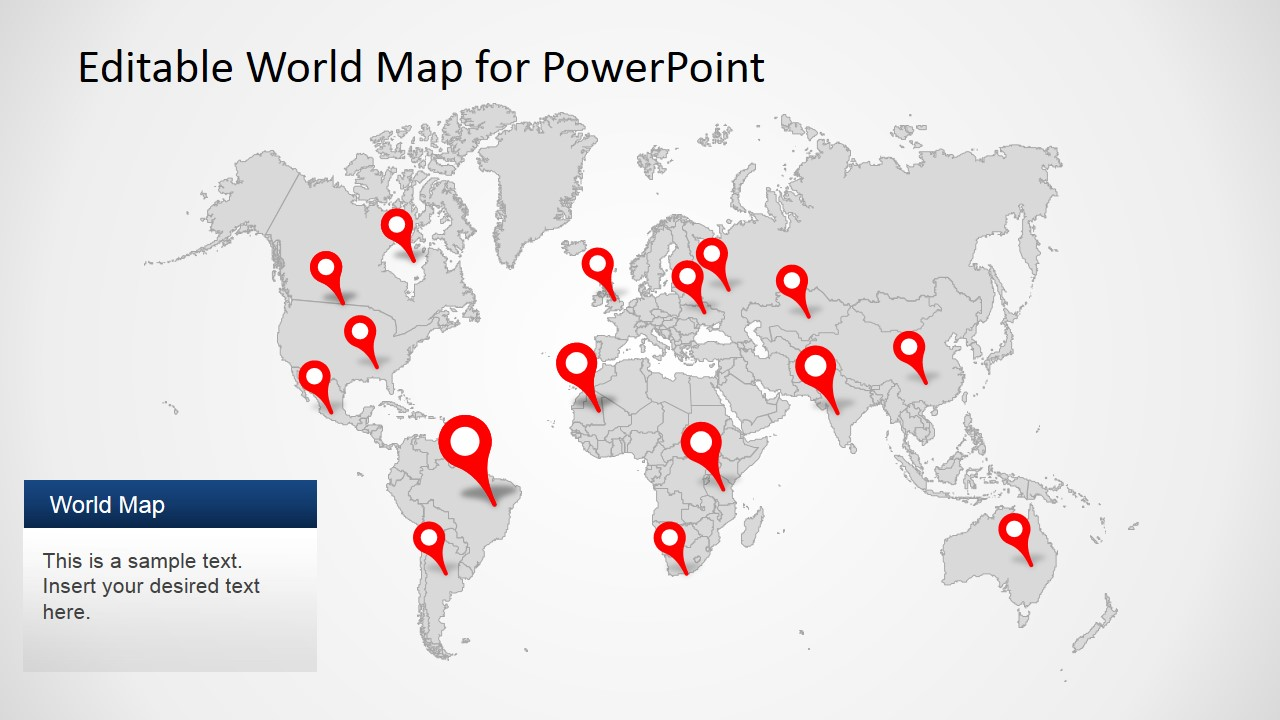 World map clipart powerpoint free clipart freeuse Editable Worldmap for PowerPoint - SlideModel clipart freeuse