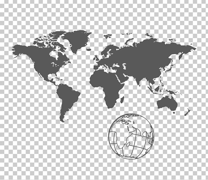 World map clipart united vector black and white stock United States India World Map Globe PNG, Clipart, Africa Map ... vector black and white stock
