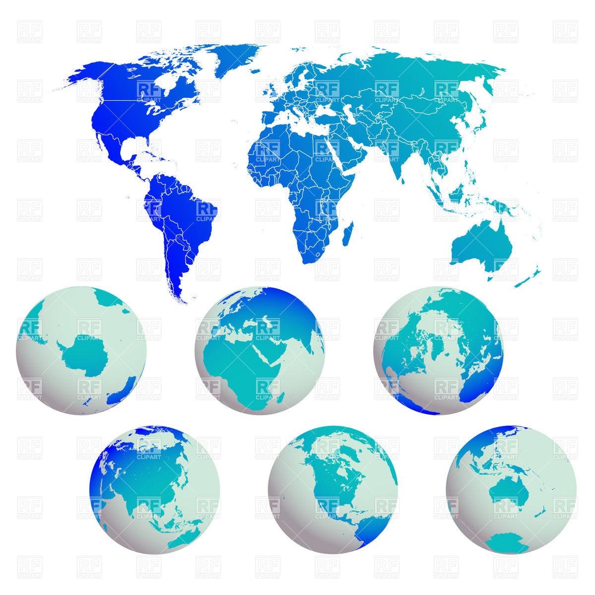 World map clipart uship clip art freeuse library World map two spheres clipart - ClipartFest clip art freeuse library