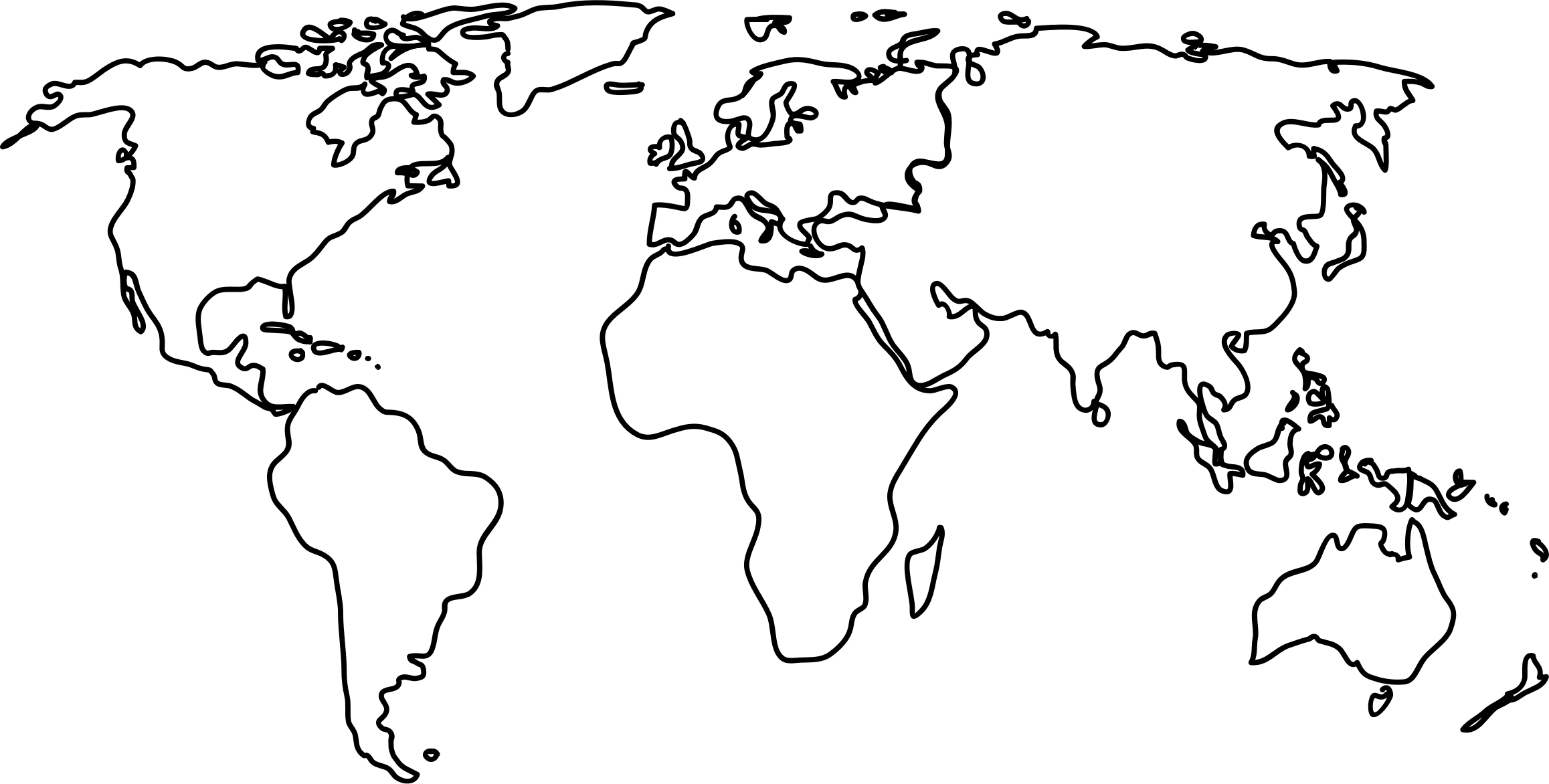 World map clipart uship svg royalty free World map clip art black and white - ClipartFest svg royalty free