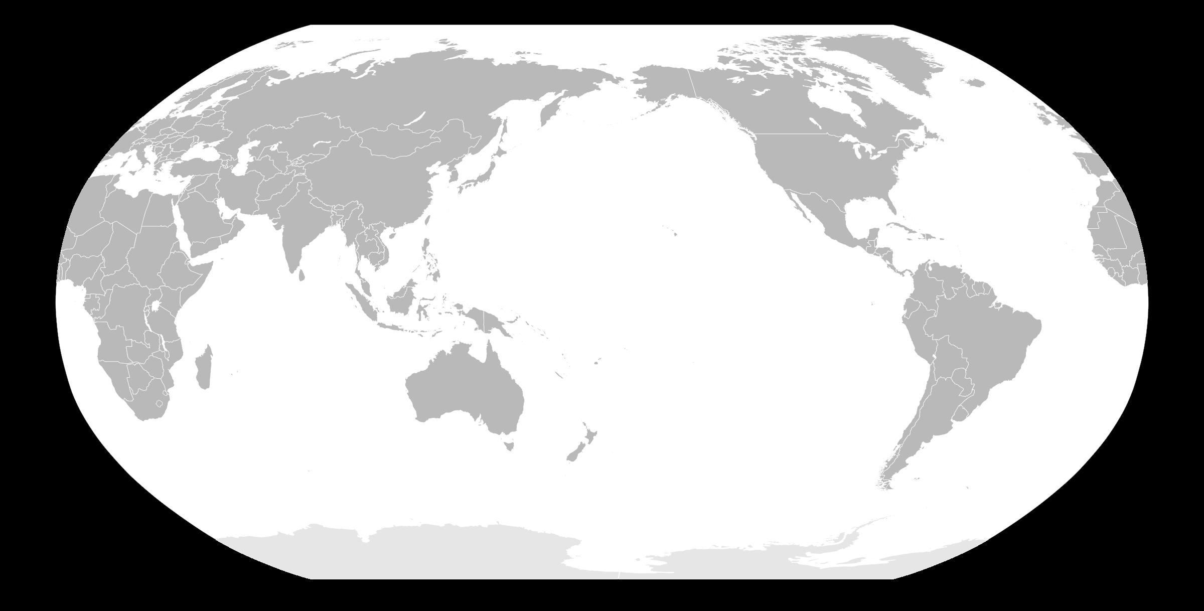 World map clipart uship svg stock Clipart - World Map - Japan POV svg stock