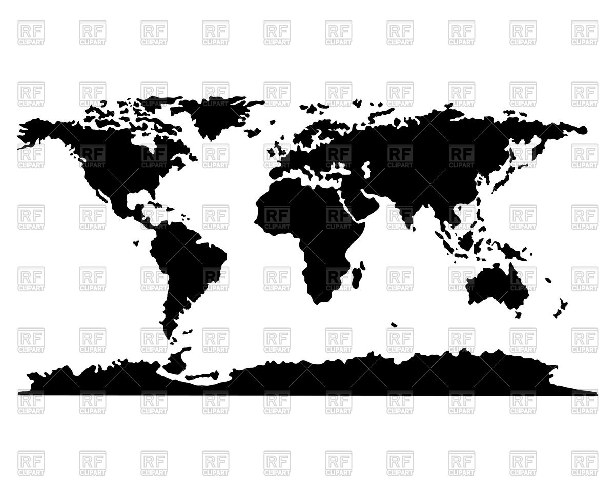 World map clipart vector picture free download Abstract silhouettes of world map Vector Image #85541 – RFclipart picture free download