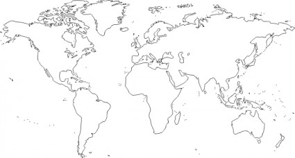 World map clipart vector clip library World map clipart free download - ClipartFest clip library