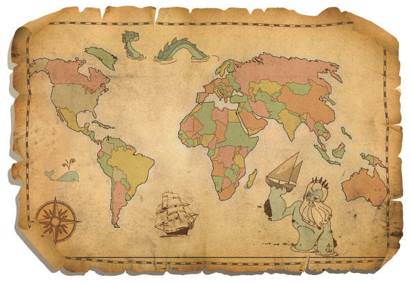 World map clipart vector clipart royalty free Old World Map Clipart - Clipart Kid clipart royalty free