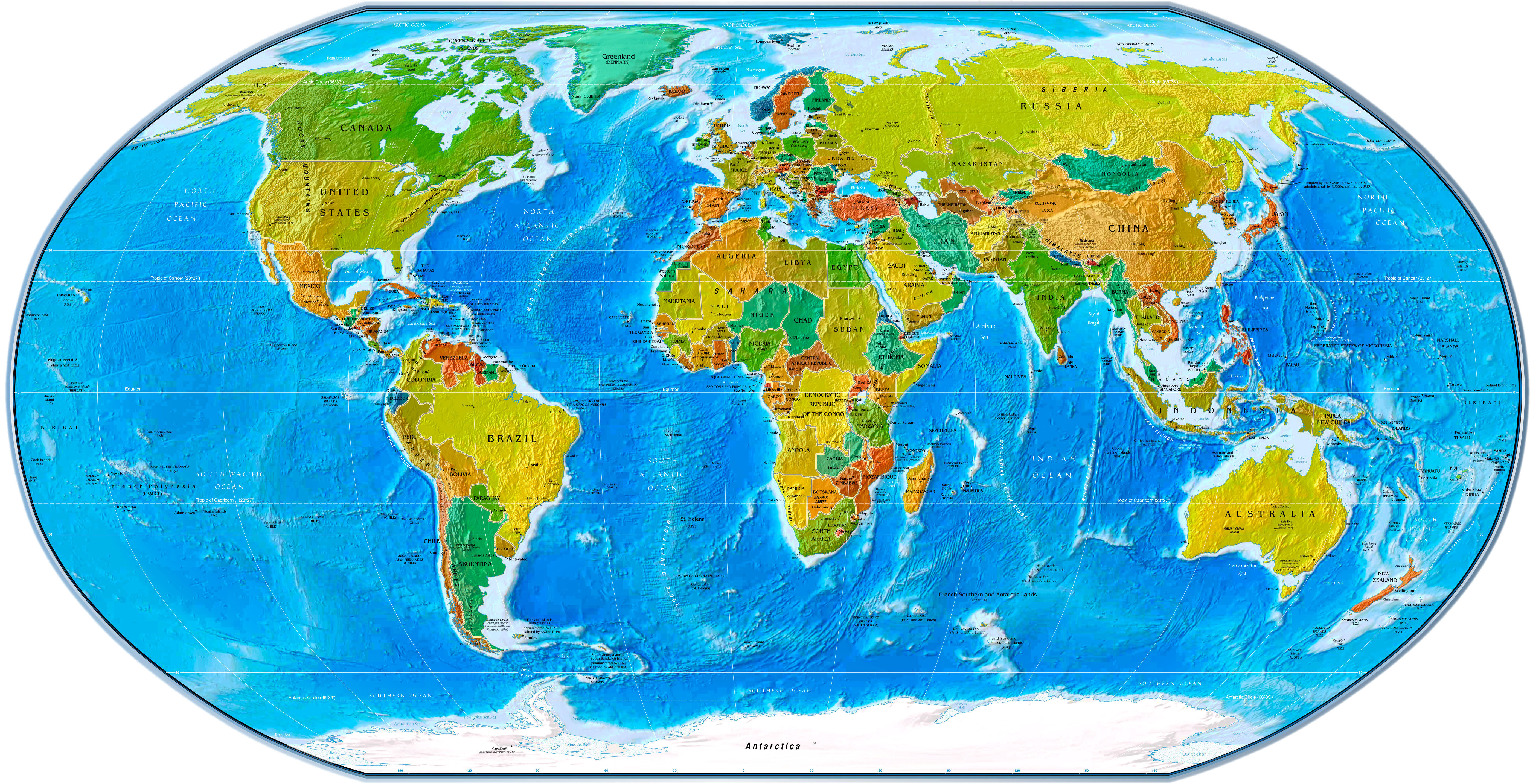 World map labeled clipart graphic black and white stock Labeled world map clipart - ClipartFest graphic black and white stock