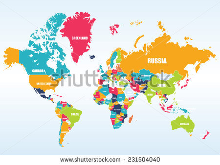 World map labeled clipart picture free download World Map with Countries Names Vector Free Download | 123Freevectors picture free download