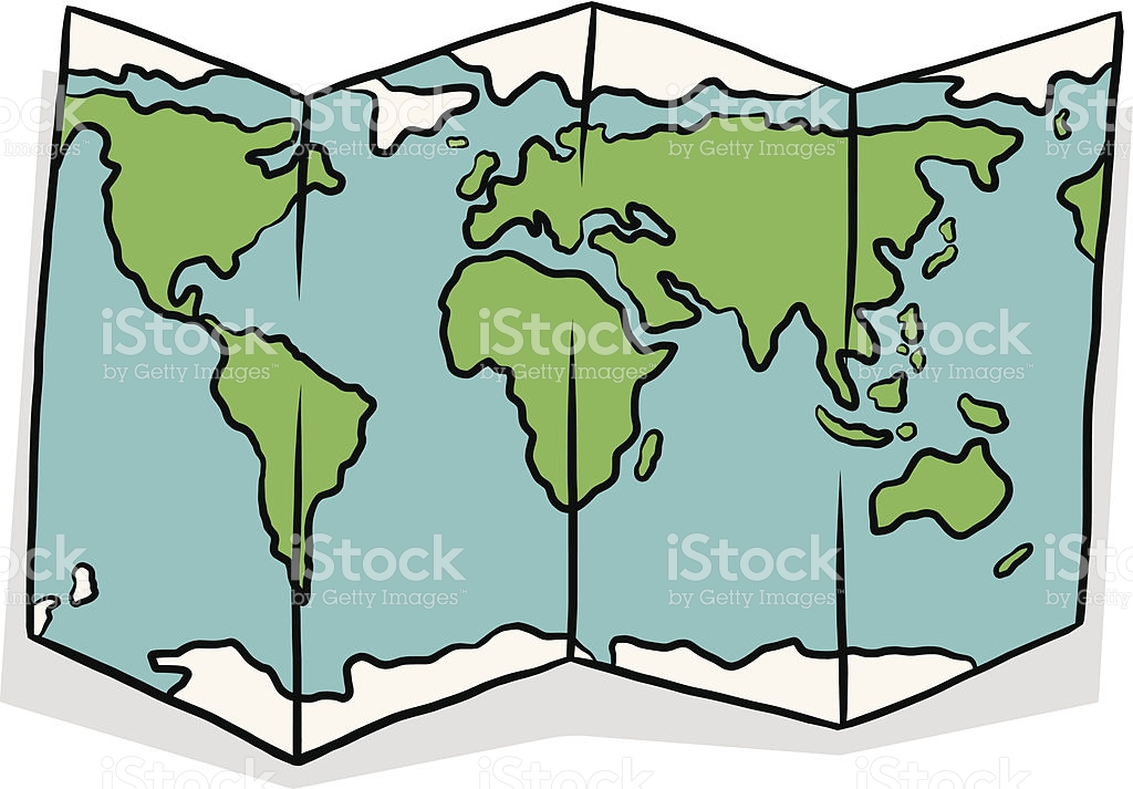 World map outline clipart cartoon graphic library download World Map Cartoon stock vector art 179996553 | iStock graphic library download