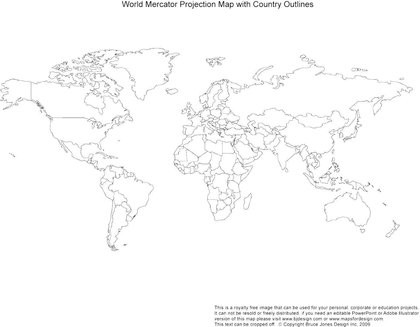 World map outline clipart cartoon vector free download Free Hunt Regional World Maps Illustration Printable Map Blank ... vector free download