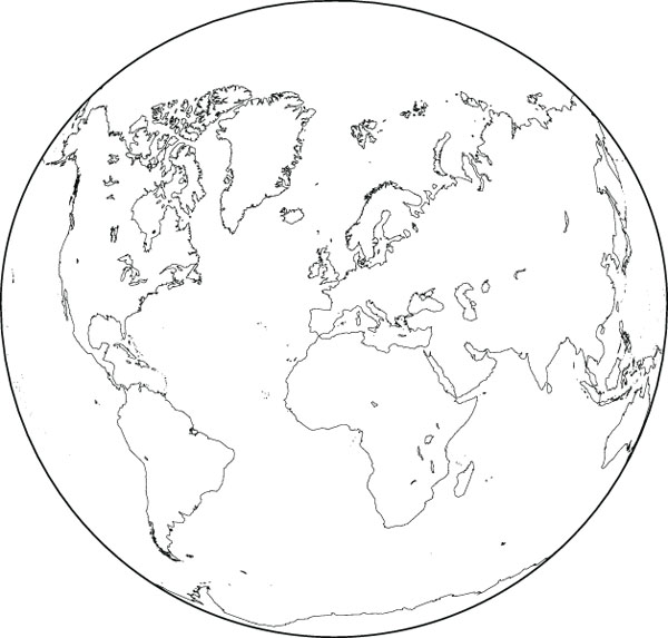 World map round clipart stock Round World Globe Map Clip Art For Geography Custom Products stock