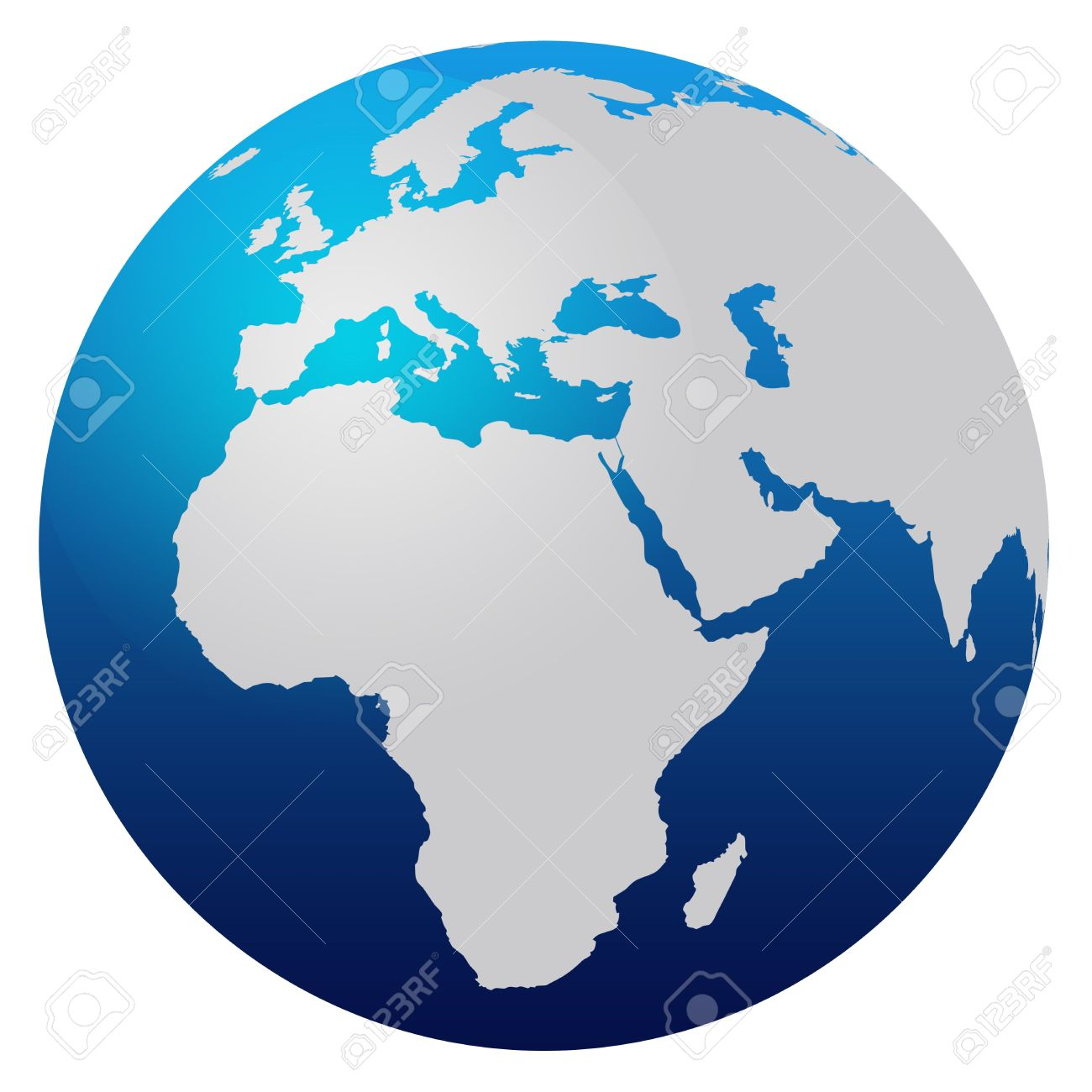 World map round clipart vector free stock World Map Blue Globe - Europe And Africa Stock Photo, Picture And ... vector free stock