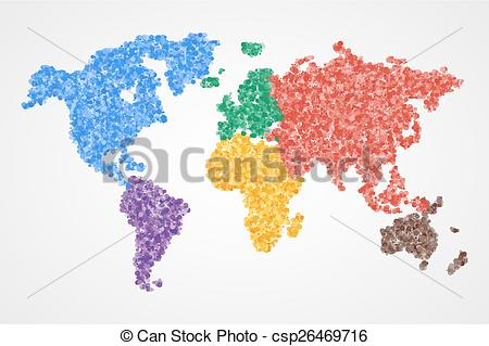World map round clipart png freeuse stock Vector Clip Art of Dotted round world map. Abstract - Dotted round ... png freeuse stock