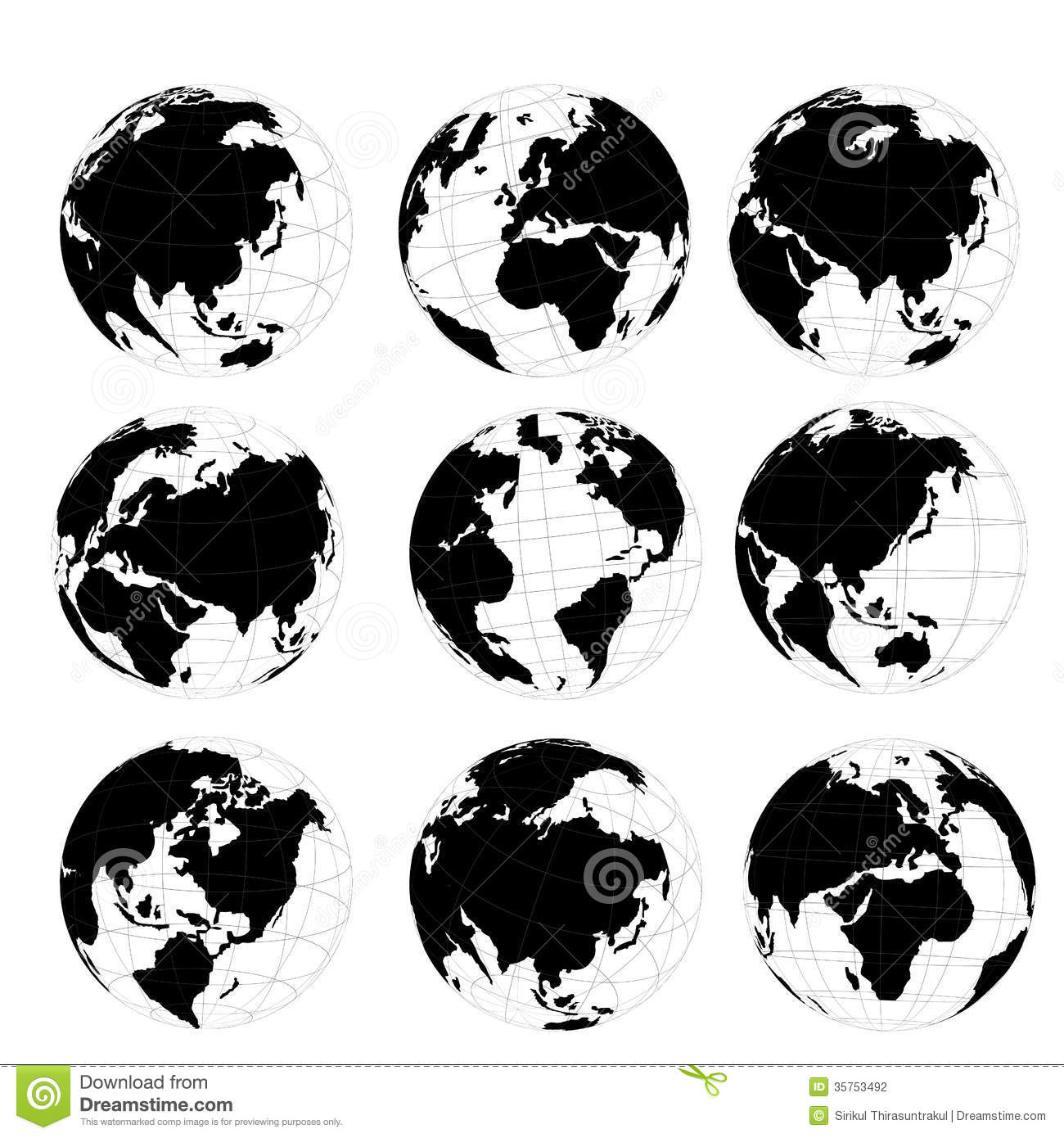 World map round clipart graphic library library Vector Set Of 3D World Map Or Globe Stock Photography - Image ... graphic library library