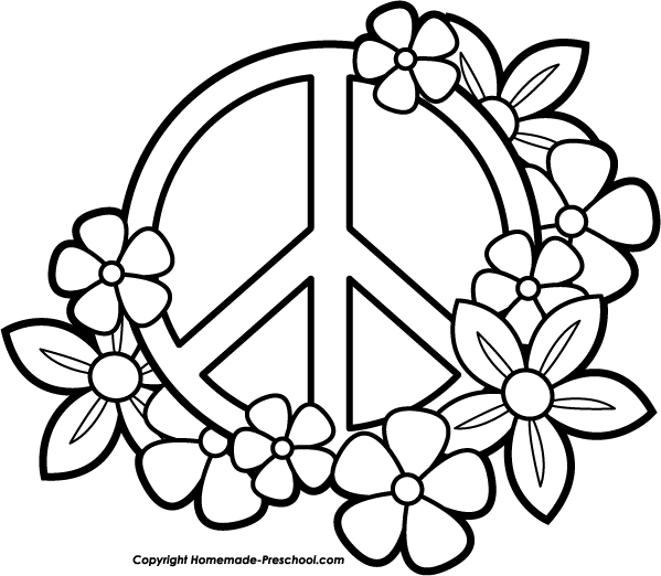 World piece sign clipart png black and white download Printable Coloring Pages Peace Hearts | Fun and Free Peace ... png black and white download