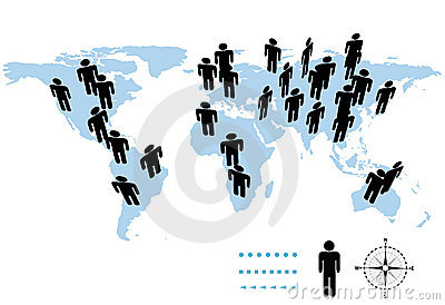 World population map clipart clip black and white download World Map, World Population Stock Images - Image: 31873414 clip black and white download