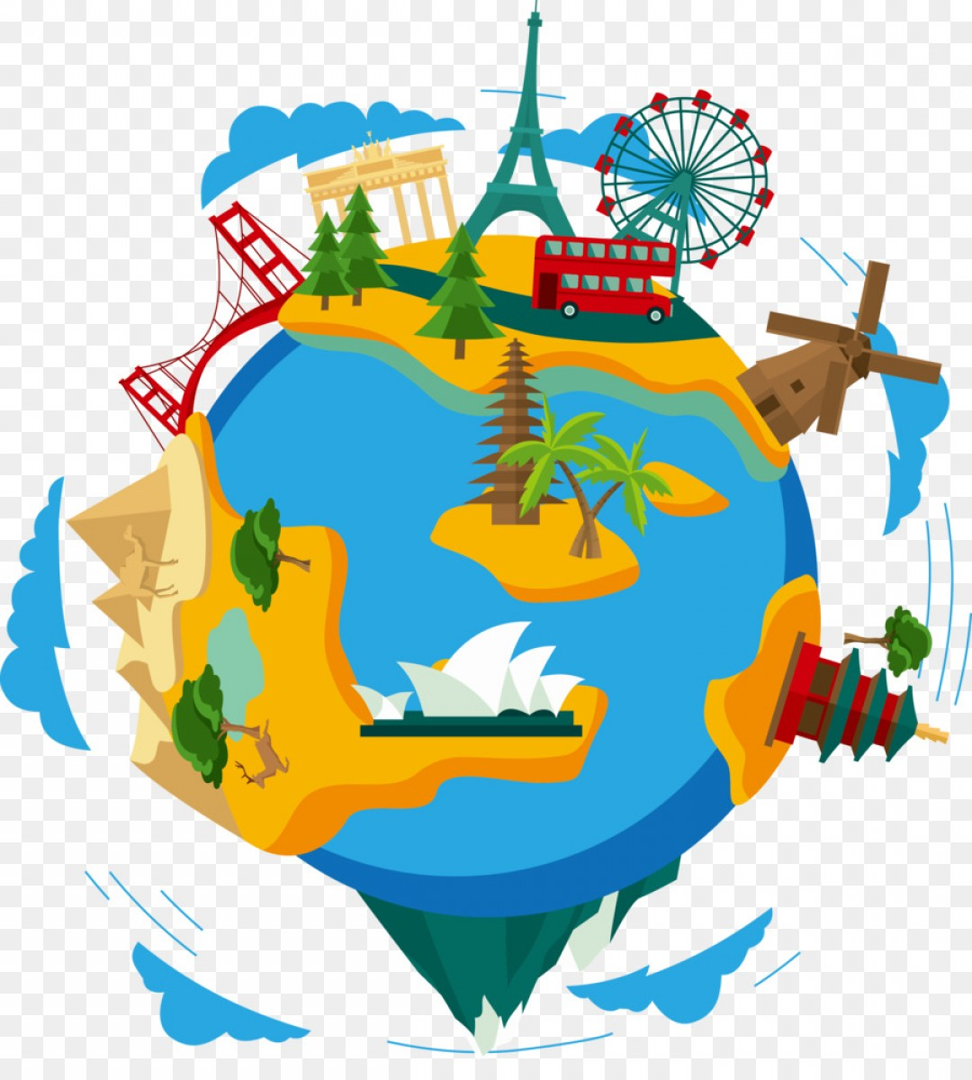 World travel clipart png