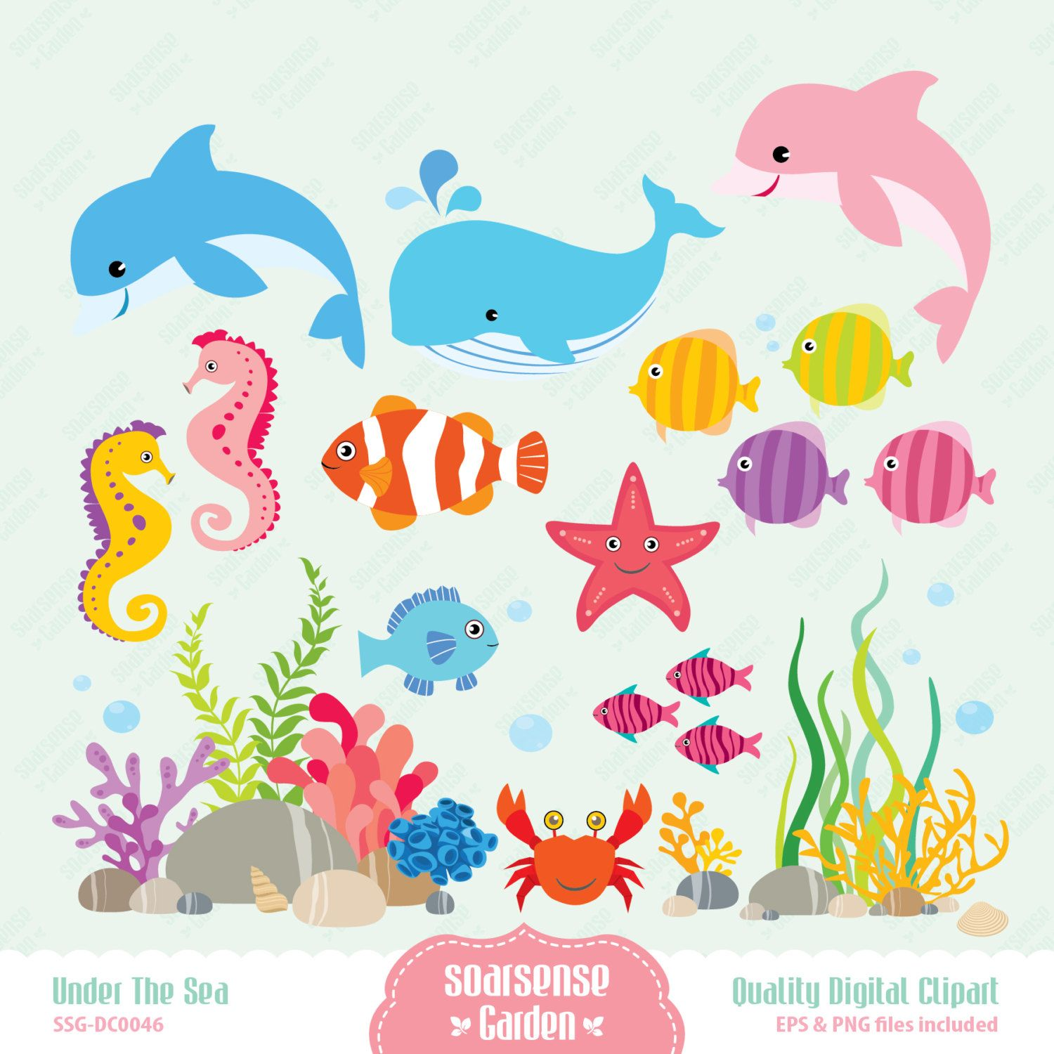 World under the sea clipart vector freeuse library Clip Art Father S Day Gone Fi - Under The Sea Clip Art ... vector freeuse library