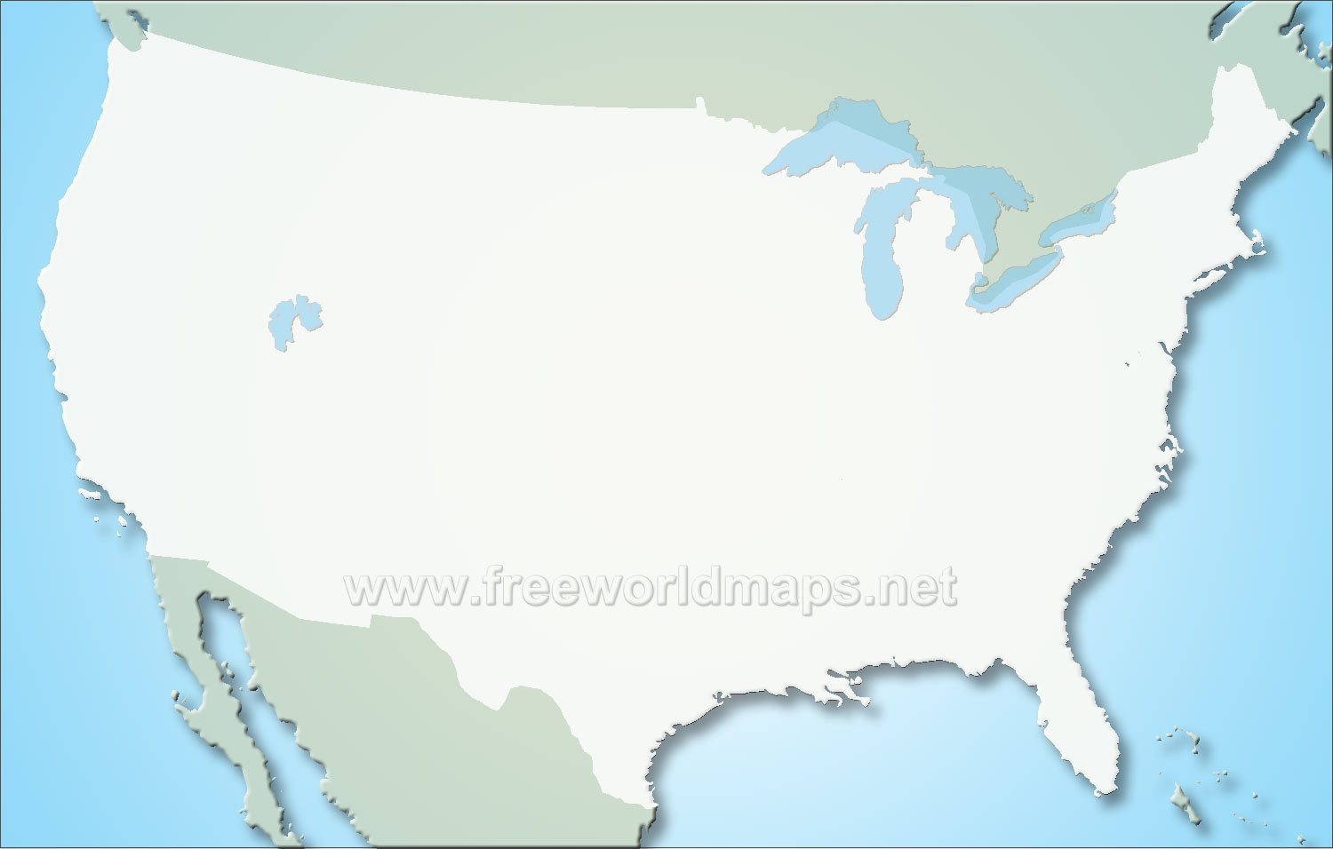 World us map clipart picture transparent Blank World Map United States By Freeworldmaps Net Us   World Map ... picture transparent