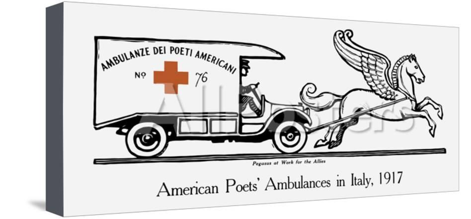 World war one ambulance clipart picture royalty free stock Vintage World War I Poster of an Ambulance Being Pulled by Pegasus picture royalty free stock