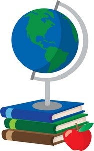 World with books clipart jpg black and white download Geography Book Clipart jpg black and white download