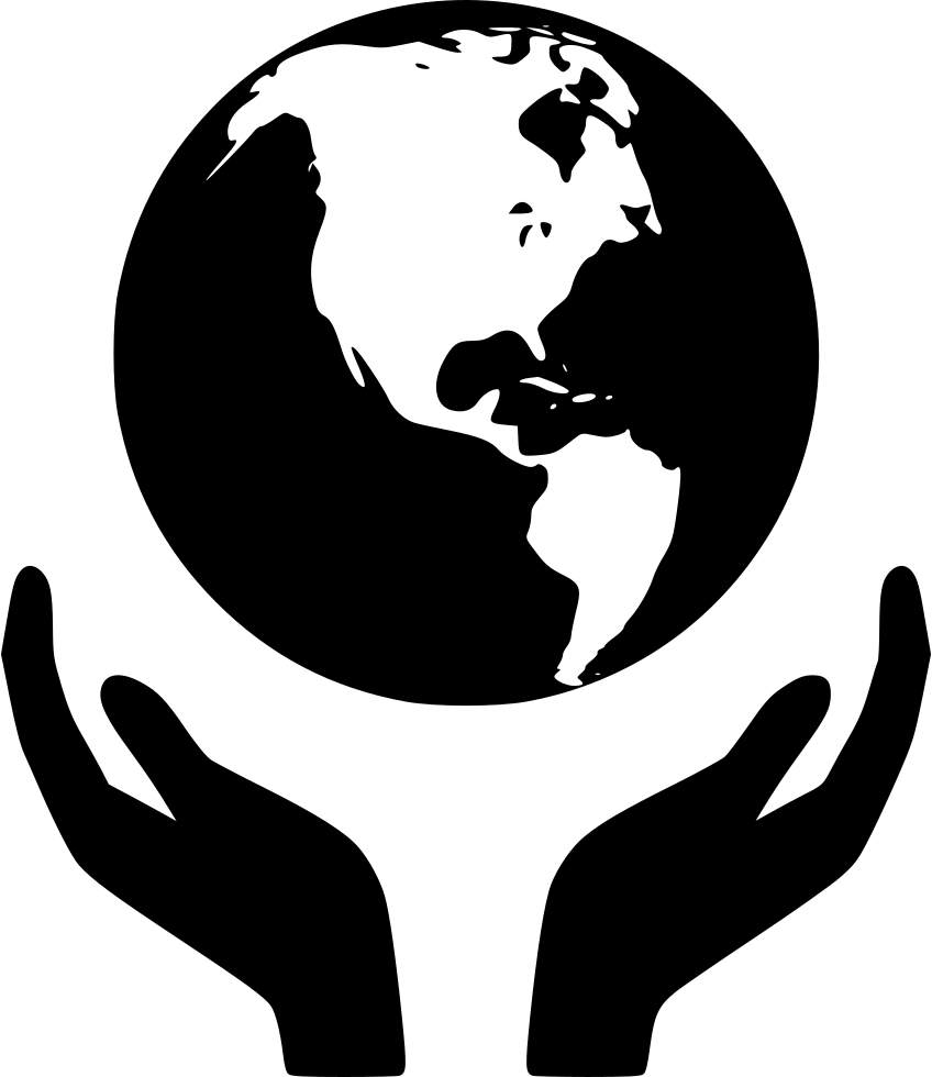 World with people vector black and white clipart png transparent Globe Earth World Holding hands - paragraph vector png ... png transparent