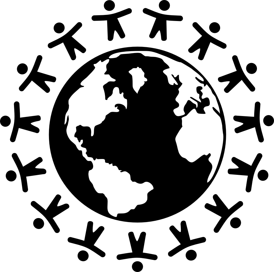 World with people vector black and white clipart svg free library World | Vector Files svg free library