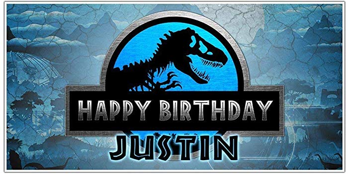 Worldwide banner clipart graphic Jurassic World Birthday Banner Personalized Party Decoration Backdrop graphic