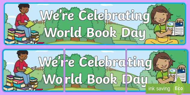 Worldwide banner clipart clip art free FREE! - World Book Day Display Banner - Book Day, World ... clip art free