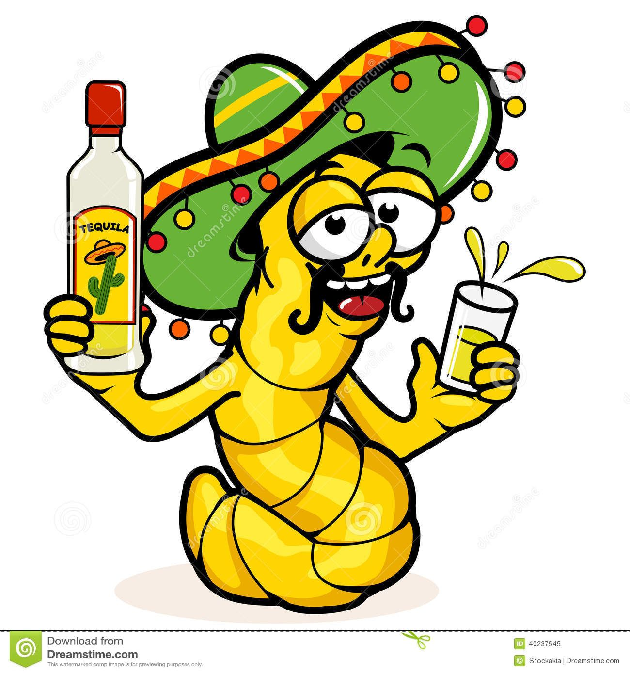 Worm turning around cartoon clipart image transparent Vector illustration of a drunk cartoon tequila worm holding ... image transparent
