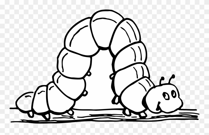 Worm with ahat black and white clipart banner transparent Worm Png Black And White & Free Worm Black And White.png ... banner transparent