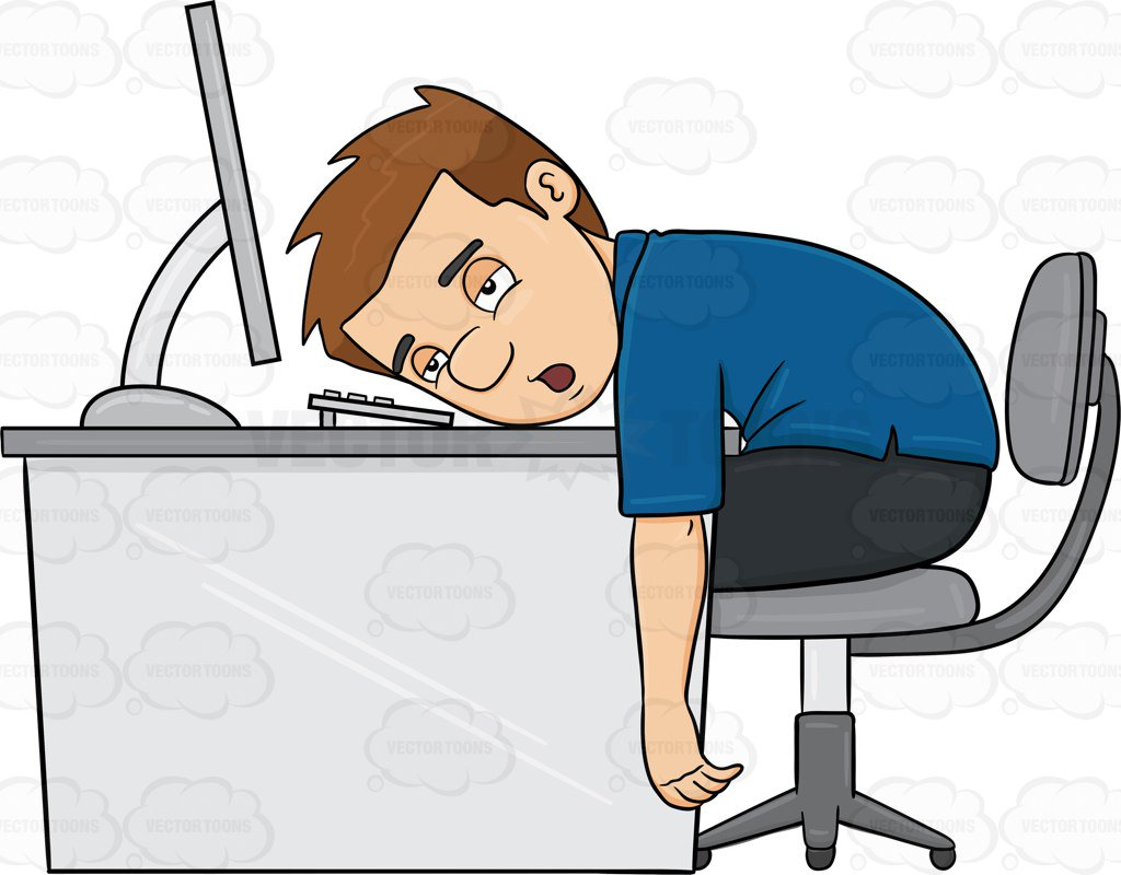 Worn out person clipart picture black and white Cartoon Tired Person Group with 89+ items picture black and white