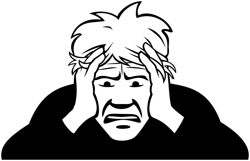 Worried clipart png picture black and white worried - /people/distressed/worried.png.html picture black and white