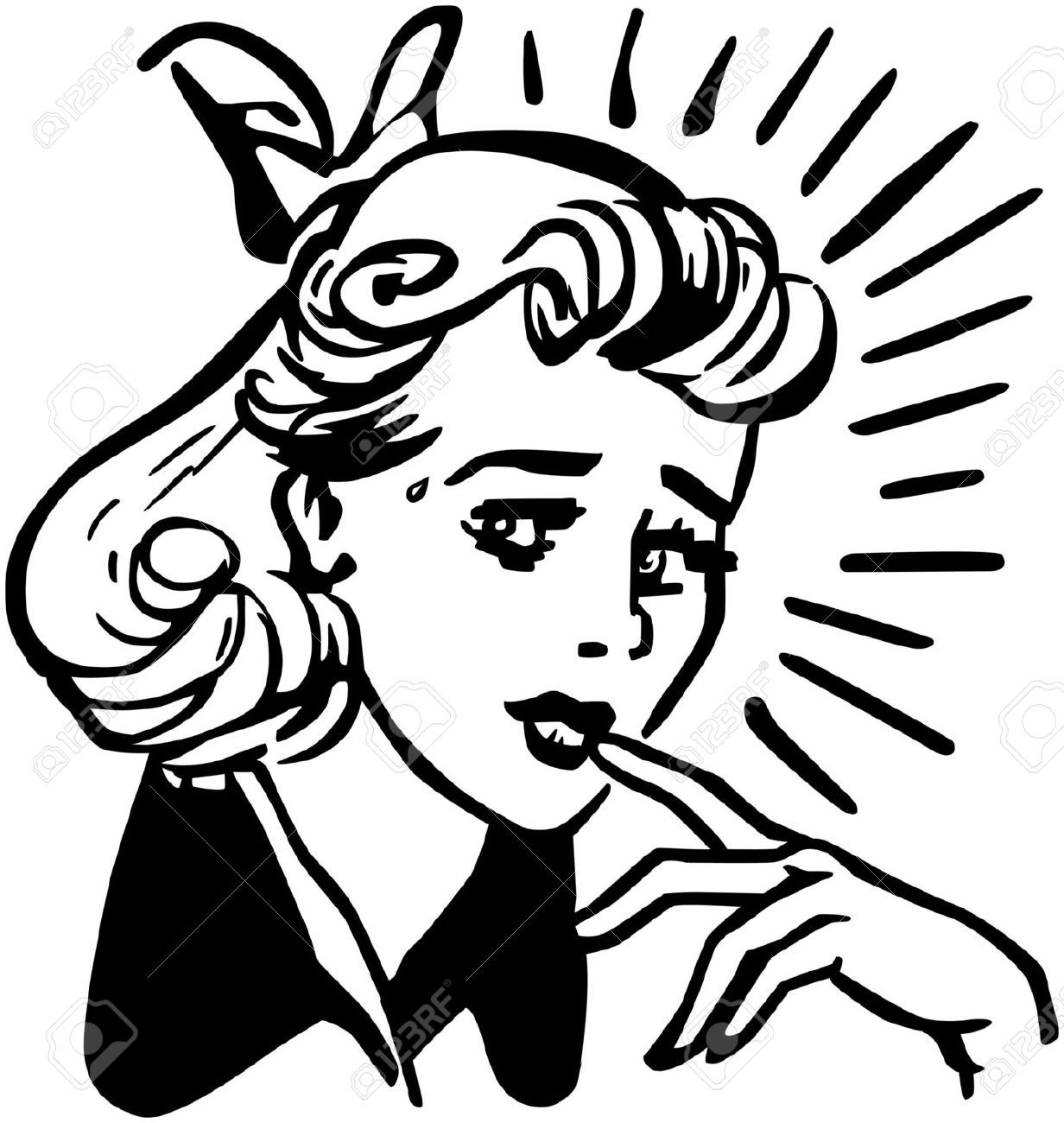 Worried women clipart svg royalty free library Worried woman clipart 6 » Clipart Portal svg royalty free library