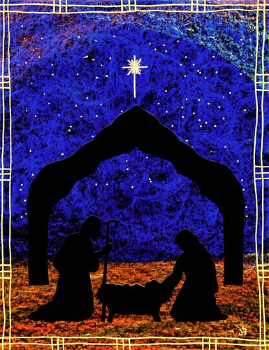 Christmas bulleting clipart graphic transparent Christmas nativity bulletin: Heavenly Child – Stushie Art graphic transparent