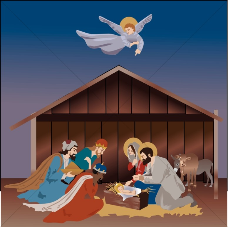 Nativity scene pictures clipart png transparent stock Christmas Nativity Scene | Manger Clipart png transparent stock