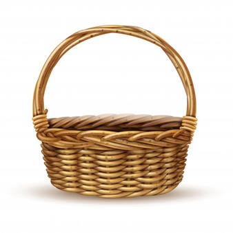 Woven basket without handle png clipart vector png