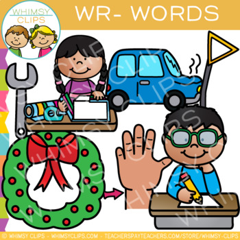 Wr words clipart