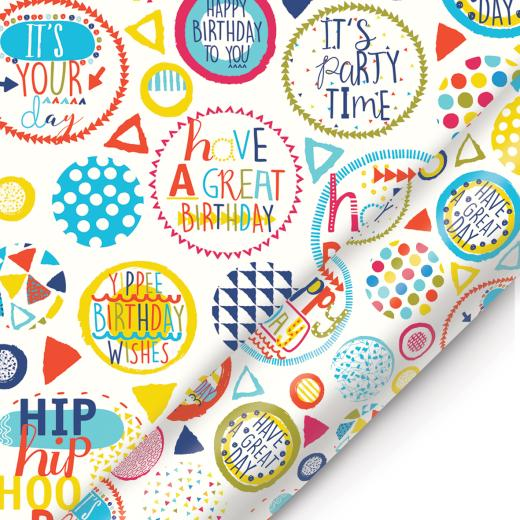 Wrap party clipart images image library library Roll Wrap Party Time Birthday Pattern Bc1278 image library library