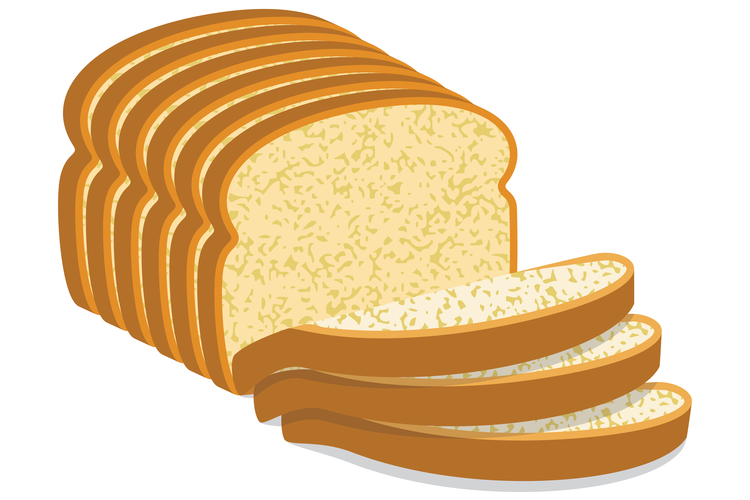 Wrapped loaf ofbread clipart banner black and white stock The Slice Is Right banner black and white stock