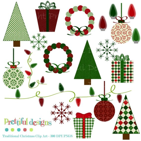 Wrapping all the way clipart png freeuse stock Traditional Christmas Clip Art - Personal or Commercial Use ... png freeuse stock