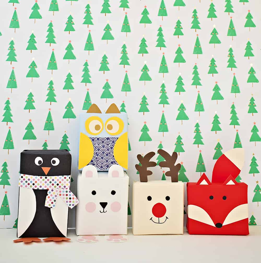Wrapping all the way clipart freeuse download DIY HOLIDAY ANIMAL GIFT WRAP freeuse download