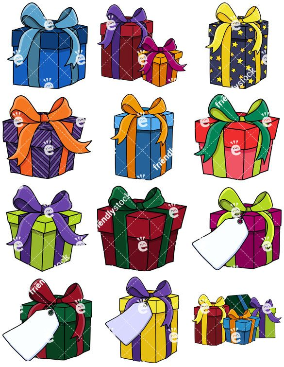 Wrapping well clipart jpg transparent Presents And Gift Boxes Collection | Christmas Vector ... jpg transparent