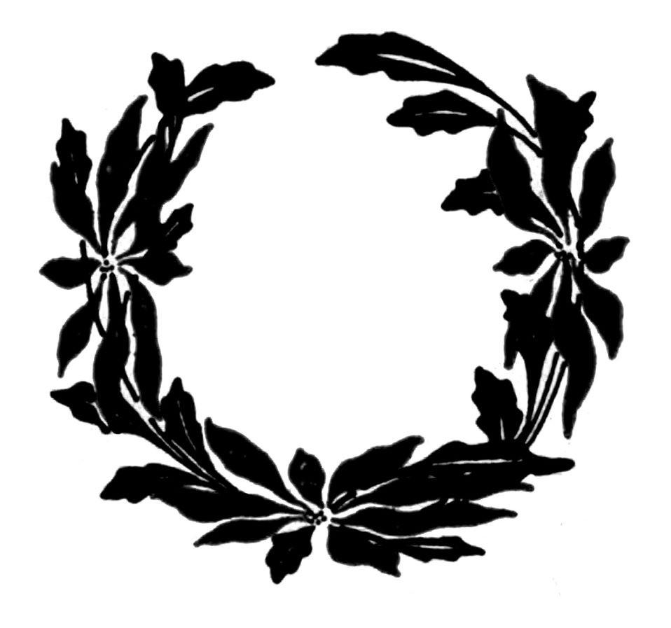 Wreath clipart black silhouette