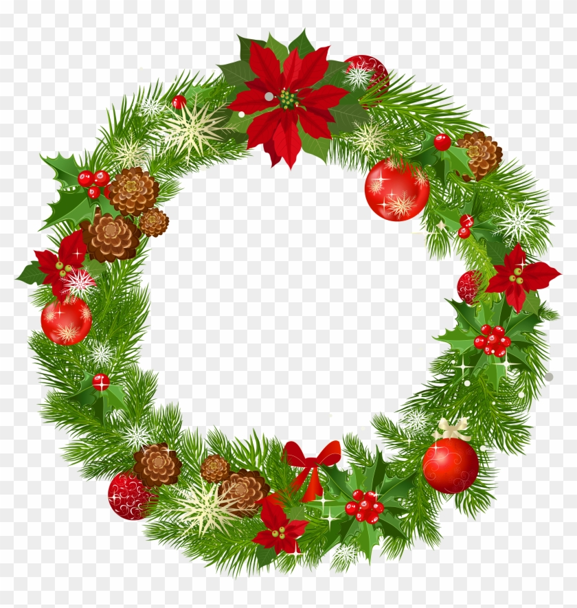 Wreath clipart transparent clip art free stock 3500 X 3524 7 - Transparent Background Christmas Wreath ... clip art free stock