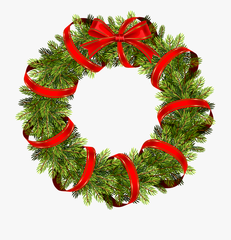 Wreath clipart transparent vector free Wreath Clipart Transparent Background - Christmas Pine ... vector free