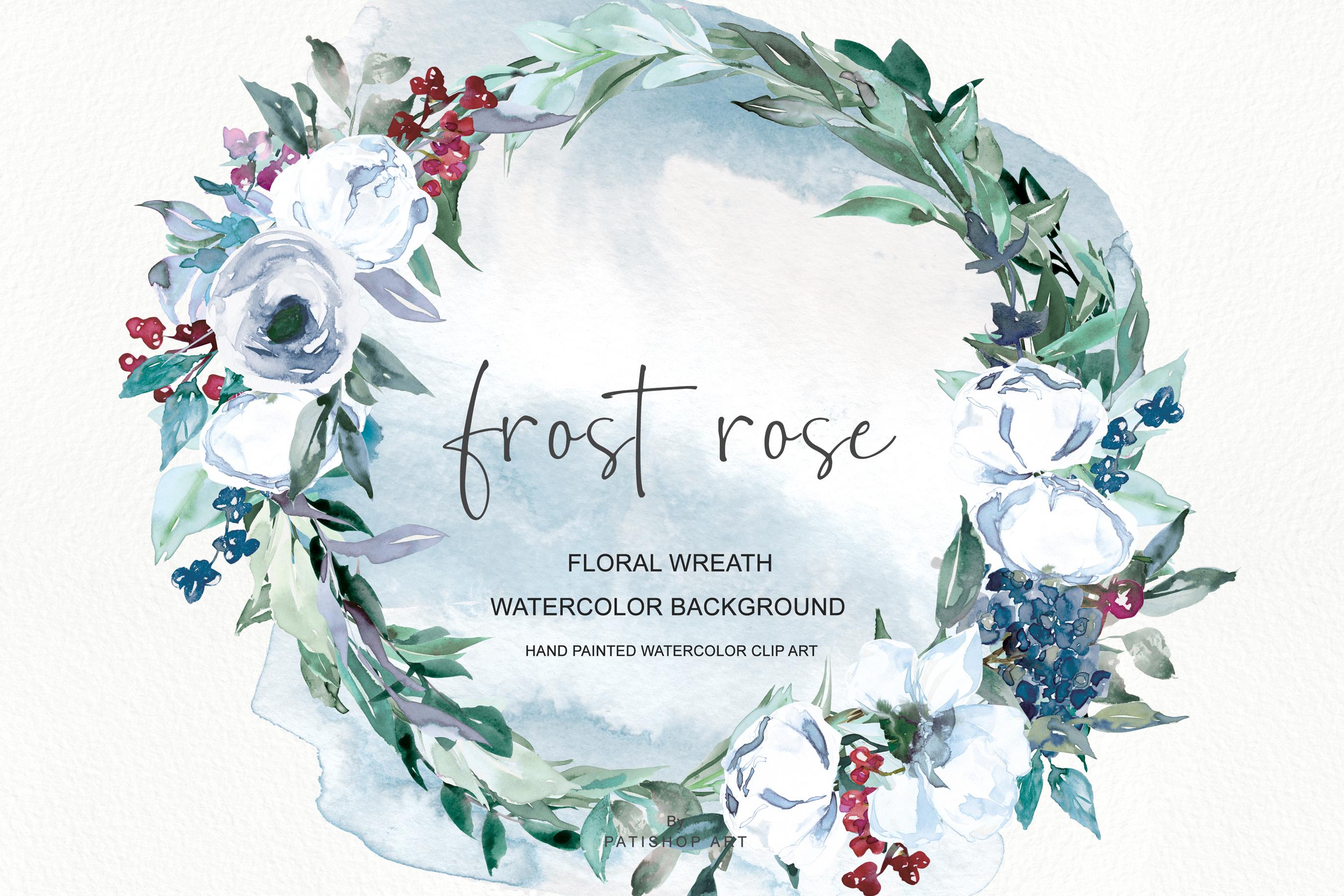 Wreath clipart watercolour clip art transparent Watercolor White Rose Wreath Clipart clip art transparent