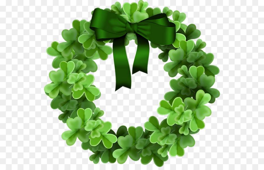 Wreath clover clipart jpg library Green Day Logo clipart - Shamrock, Illustration, Green ... jpg library