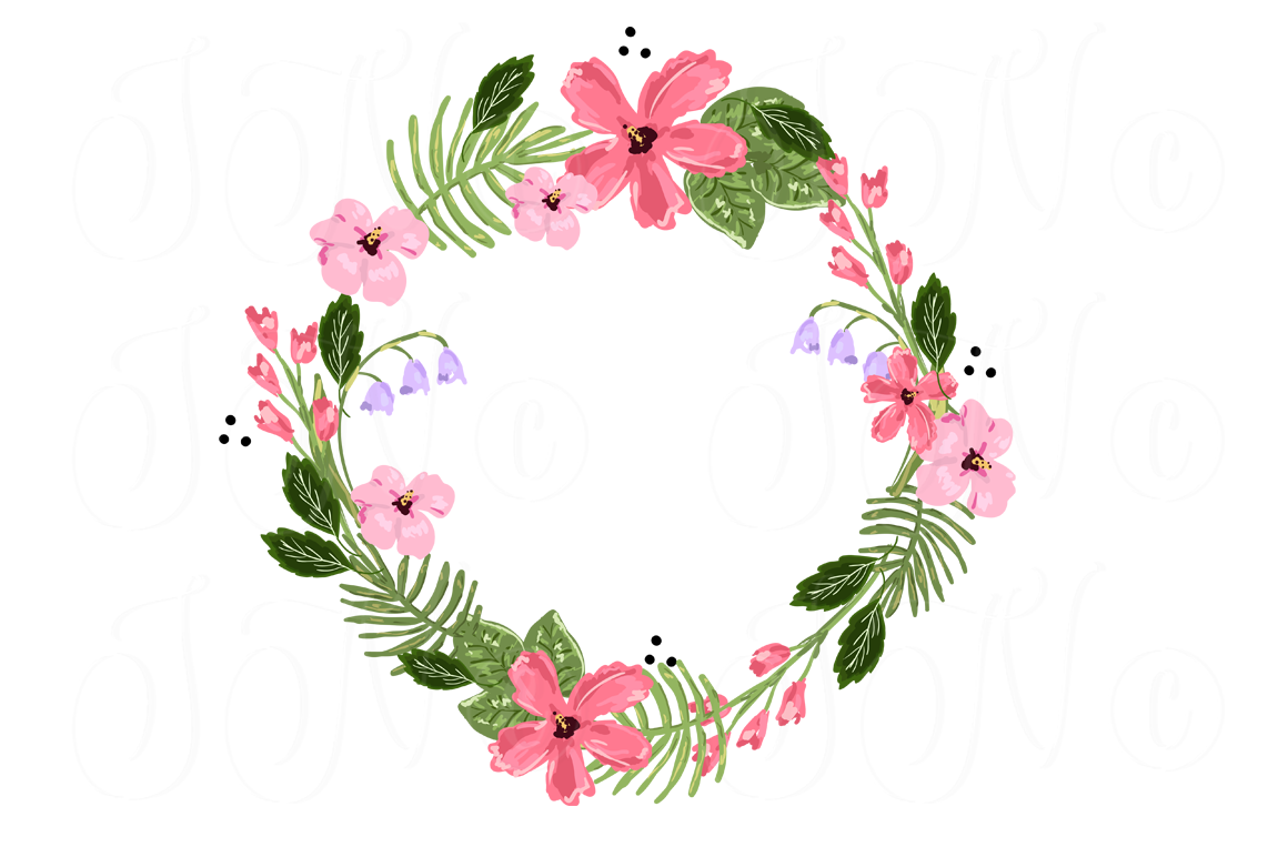 Wreath embellishment clipart clipart freeuse download 4 unique Wreath Floral clip art, laurel, arrows, hearts ... clipart freeuse download